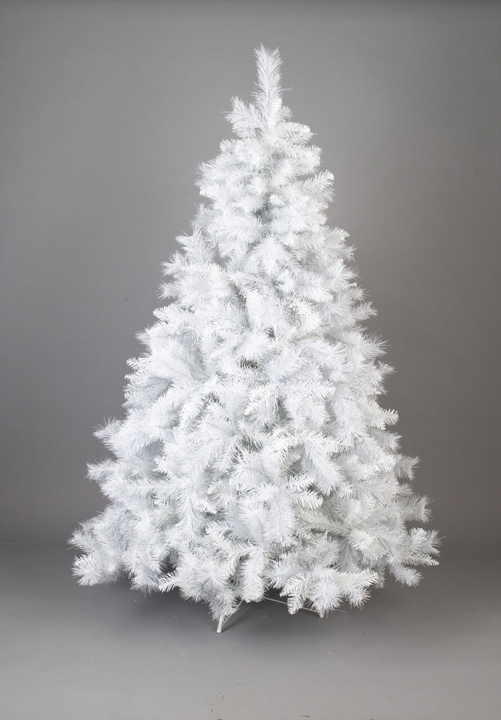 White Scandinavian Pine Artificial Christmas tree. 6.5ft tall, 4ft wide