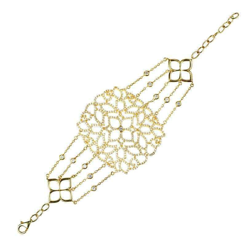 22Ct Gold Vermeil Filigree Bracelet - Women - Jewelry - Bracelets
