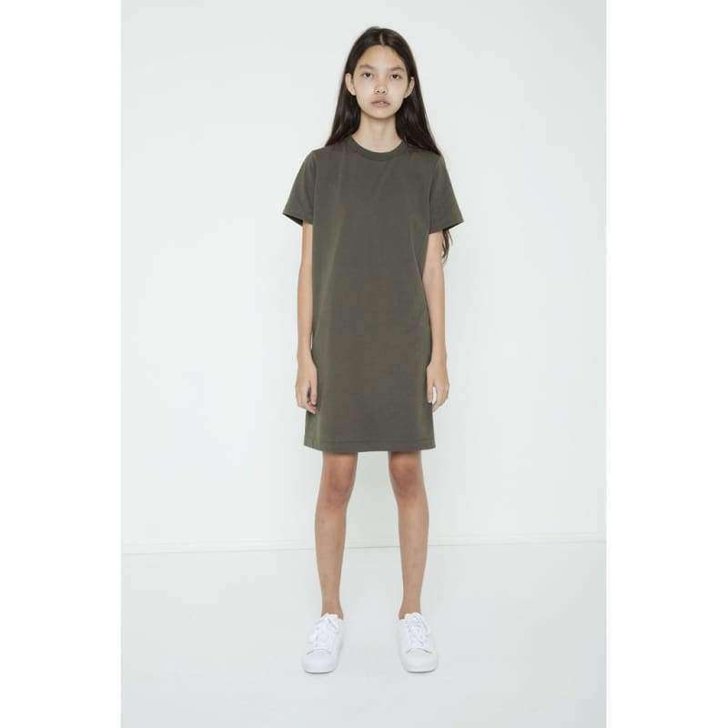 Blank Canvas T Shirt Dress - Army Green / Xs - Women - Apparel - Dresses - Casual
