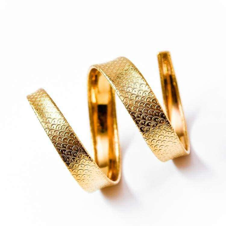 Fish Scale ali Perforated Armlet - ženske - nakit - zapestnice