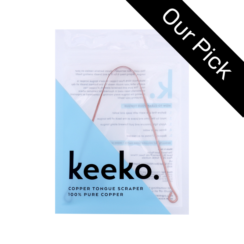 Copper Tongue Cleaner by Keeko