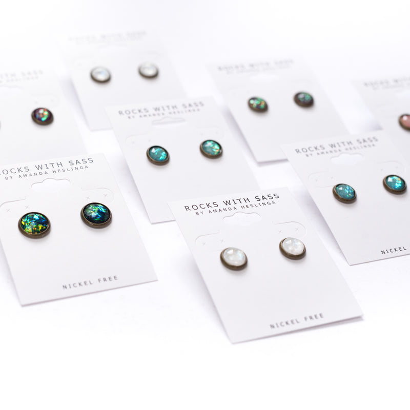 Holographic Earrings by Rocks With Sass