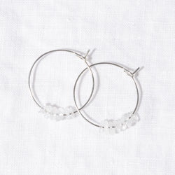 Moonstone Hoops by 24th & Agate