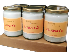 Coconut Oil Company Virgin Coconut Oil 500ml Now in Glass Jar