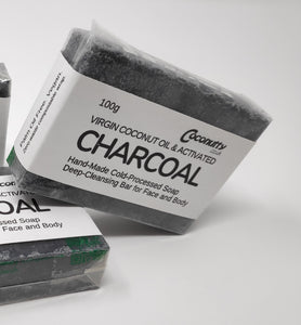 Charcoal, Virgin Coconut and Tea Tree Oil 100g Soap Bar
