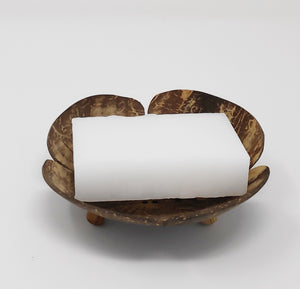 Coconut Shell Soap Dish - Aerate Your Soap or Solid Shampoo Bar