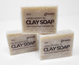 Clay and Virgin Coconut Oil Soap Bar 100g