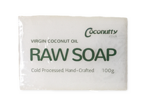 Soap Bar 100g - Pure Raw Saponified Virgin Coconut Oil - Coconuttyltd
