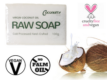 Soap Bar 100g - Pure Raw Saponified Virgin Coconut Oil