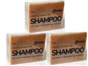 Shampoo Bar - Virgin Coconut, Argan Oil, Green Tea