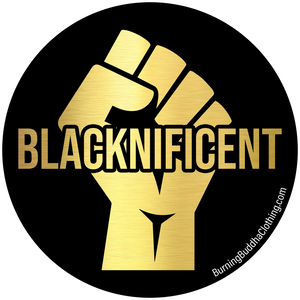 "Blacknificent 3""x 3"" Sticker"