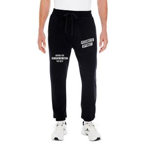 Burning Buddha Pessimistic Optimist Black Joggers