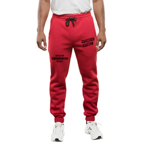 Burning Buddha Pessimistic Optimist Red Joggers