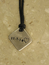 Load image into Gallery viewer, sample of pendant back engraving-numbers