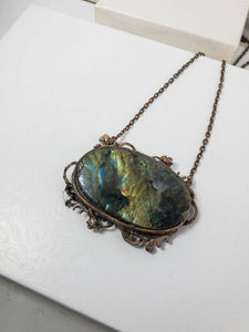 back view of labradorite pendant