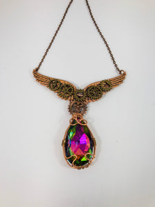 steampunk angel necklace