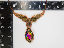 Load image into Gallery viewer, clockwork angel necklace with measurement