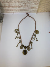 Load image into Gallery viewer, steampunk charm necklace