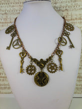 Load image into Gallery viewer, steampunk gear necklace