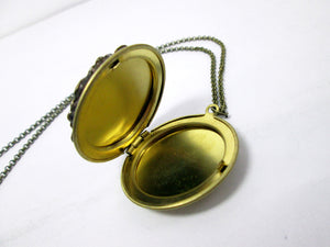 inside look of locket necklace