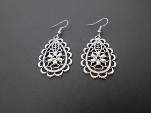 antique silver dangle earrings