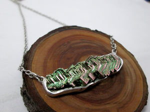 raw metal crystal necklace