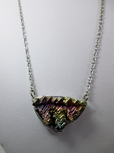 triangle bismuth necklace