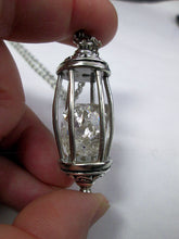 Load image into Gallery viewer, raw diamond in a cage necklace