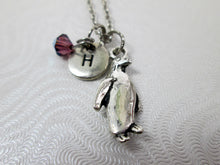 Load image into Gallery viewer, personalized penguin necklace