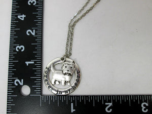 terrier necklace with measurement