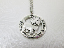 Load image into Gallery viewer, Forever in my heart Westie dog necklace