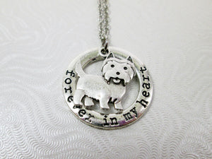 forever in my heart highland terrier necklace