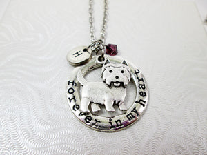 forever in my heart westie dog with personalization