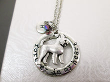 Load image into Gallery viewer, forever in my heart airedale terrier dog necklace with personalization