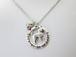 airedale terrier dog necklace with personalization