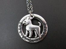 Load image into Gallery viewer, forever in my heart airedale terrier necklace