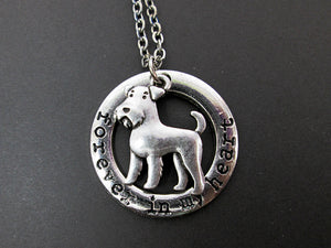 forever in my heart airedale terrier necklace