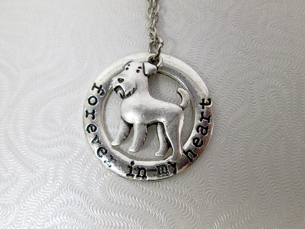 forever in my heart airedale terrier dog necklace