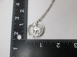 airedale terrier dog necklace with measurement