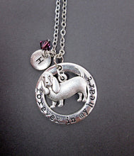 Load image into Gallery viewer, forever in my heart basset hound necklace