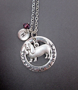 forever in my heart basset hound necklace