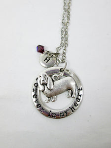 personalized basset hound necklace