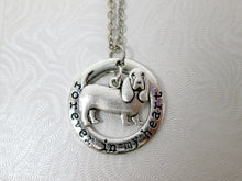 Load image into Gallery viewer, basset hound dog necklace