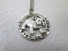 Load image into Gallery viewer, forever in my heart bulldog necklace