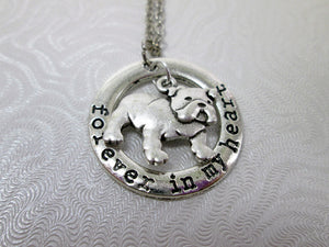 forever in my heart bulldog necklace