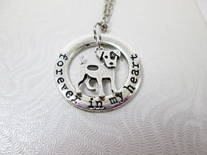 Forever in My heart Jack Russell Terrier Dog necklace