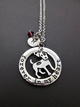 Load image into Gallery viewer, forever in my heart dog necklace with personalization