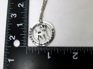 forever in my heart dog necklace with measurement