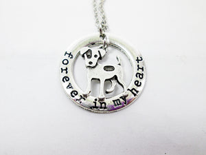 forever in my heart jack russell terrier necklace