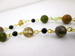 gemstone beaded necklace